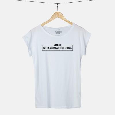 T-Shirt Wordporn - Sorry. Ich bin allergisch gegen Idioten