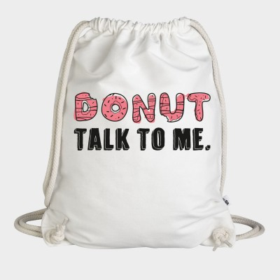 Donut talk to me - Turnbeutel