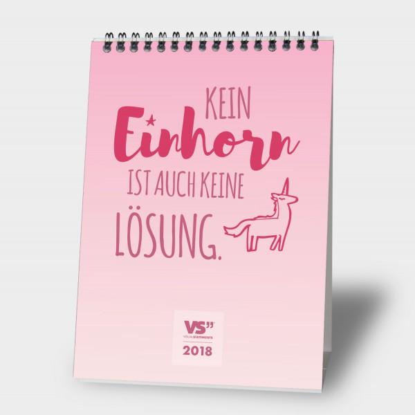 Einhornzauber / 2018 - Monatstischkalender