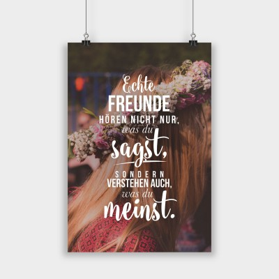 Echte Freunde hören nicht nur - Poster