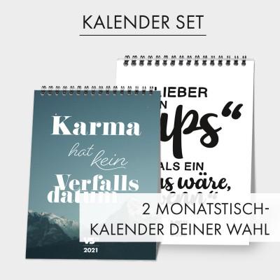 Kalender Set - 2 Monatstischkalender deiner Wahl - Kalender 2021
