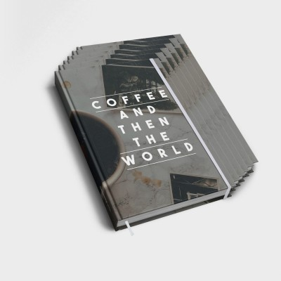 Coffee and then the world - 6er Notizbuch-Set