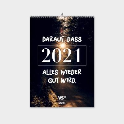 "Neuanfang - Monatswandkalender 2021 von VS"" im A3 Format"