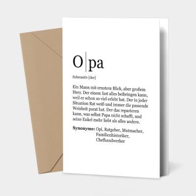 "Grußkarte Opa - Definition Opa - Grußkarte von VS"""