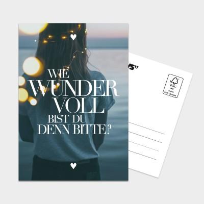 Wundervoll - Postkarte