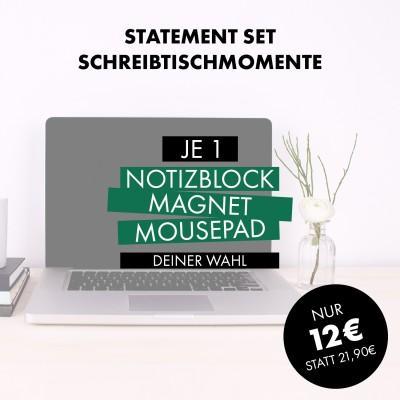 Statement Set: Schreibtischmomente