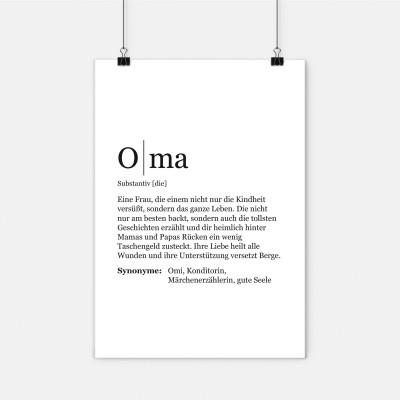 "Dudeneintrag Oma - Definition Oma - Poster Definition Oma - VS"" - Visual Statements"