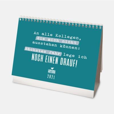 Monatstischkalender 2021 A5 - Lieblingskollegen - Kalender fürs Büro