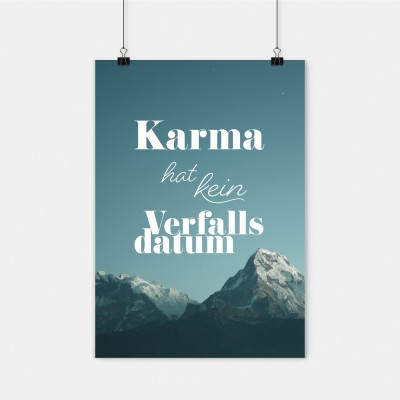 "Poster VS"" - DinA2 - Karma hat kein Verfallsdatum"