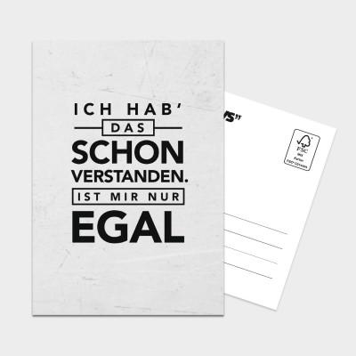 Egal - Postkarte