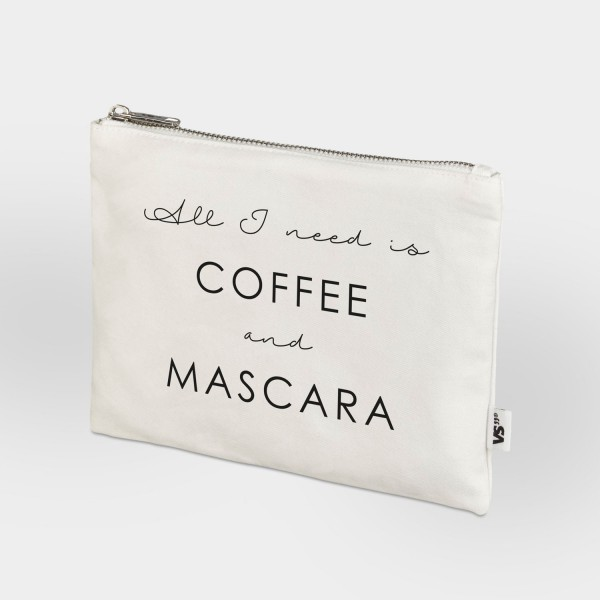 All I need is coffee and mascara - Zip Bag
