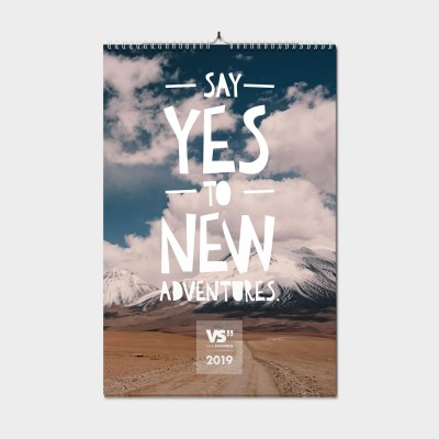 Say yes to new adventures 2019 A3 - Monatswandkalender