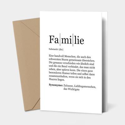 Familie - Grußkarte
