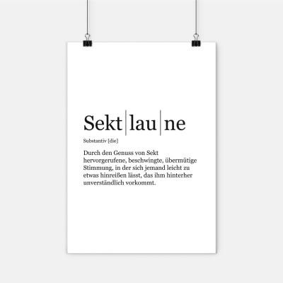 """Poster VS"""" - Sektlaune"""