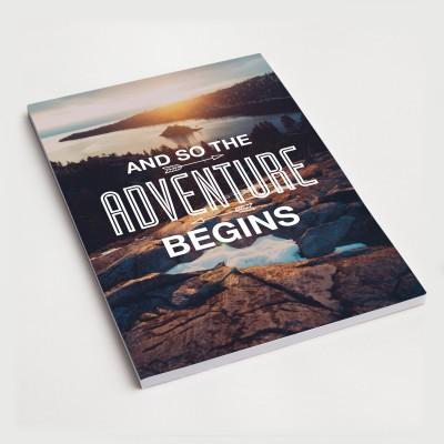 And so the adventure begins - Notizblock