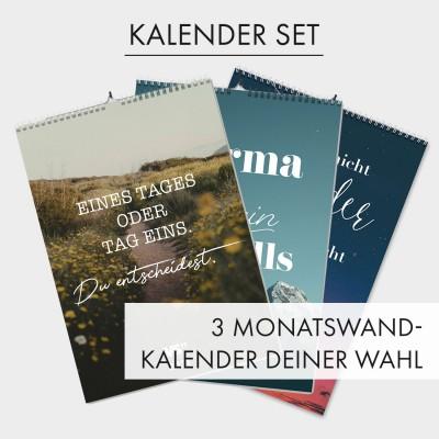 """Kalender Set VS"""" - 3 Monatswandkalender deiner Wahl"""