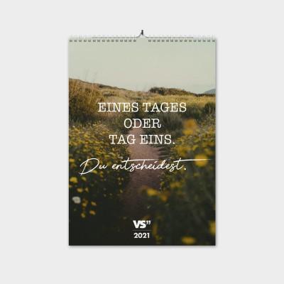"""Tag Eins - Monatswandkalender von VS"""" 2021 - A3"""