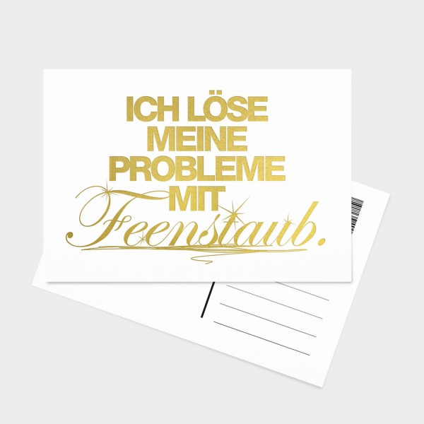 Feenstaub Gold - Postkarte