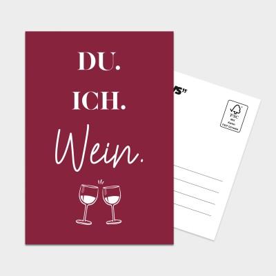 Du. Ich. Wein. - XXL Postkarte Visual Statements