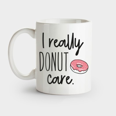 Witzige Tasse - I really Donut care
