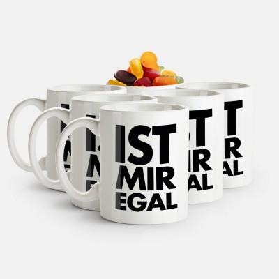 Ist mir egal - 6er Tassen-Set