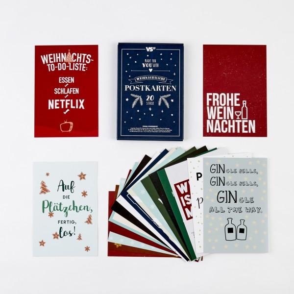 20er POSTKARTEN-SET Weihnachtspost