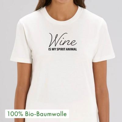Wine is my spirit animal - T-Shirt von wrdprn - Visual Statements Shop