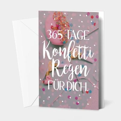 365 Konfetti - Grußkarte von VS''