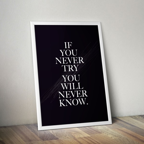 If you never - Poster
