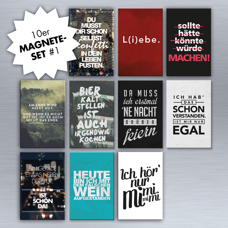 10er magnet set magnet set magnete wohnen visual statements. Black Bedroom Furniture Sets. Home Design Ideas