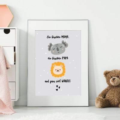 Ein bisschen Mama, ein bisschen Papa und ganz viel Liebe - Poster lalelove
