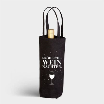 Fröhliche Weihnachten - Flaschenbeutel