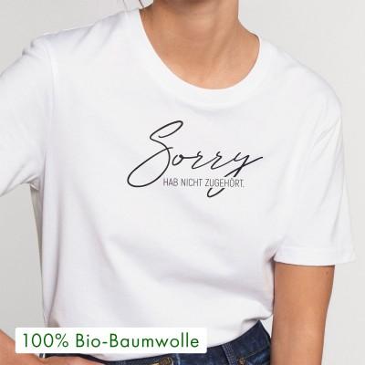 """Sorry, hab nicht zugehört - weißes T-Shirt von VS"""" - Visual Statements Shop"""