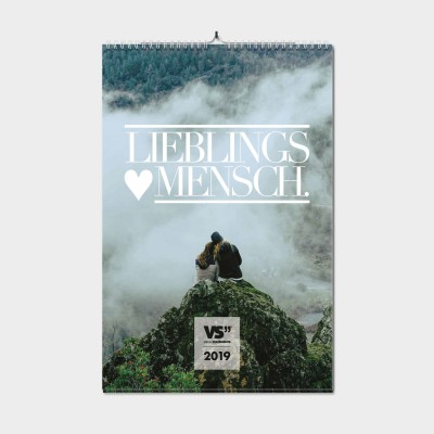Lieblingsmensch 2019 A3 - Monatswandkalender