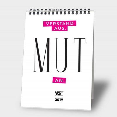 Verstand aus. Mut an. A5 - Monatstischkalender 2019