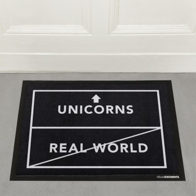 Unicorns/real world - Fußmatte