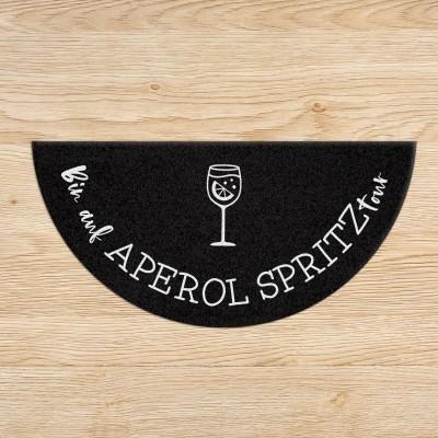 Bin auf Aperol Spritztour - Fußmatte halbrund