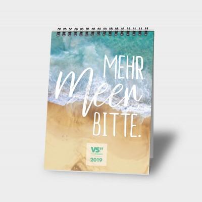 Mehr Meer, bitte  A5 - Monatstischkalender 2019