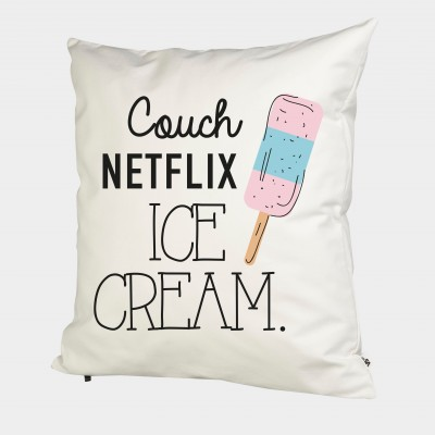 Couch Netflix Ice Cream - Kissenbezug