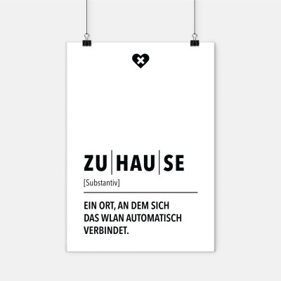 Poster wrdprn - Definition Zuhause