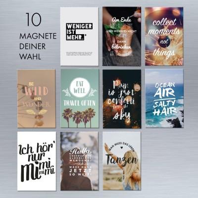 Magnet-Set: 10 Magnete Deiner Wahl