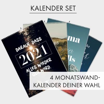 "Kalender Set 2021 - 4 Monatswandkalender von VS"" - A3 Format"