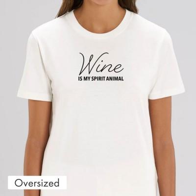 Oversized T-Shirt - Wine is my spirit animal