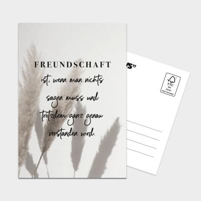Freundschaft ist - XXL Postkarte Visual Statements