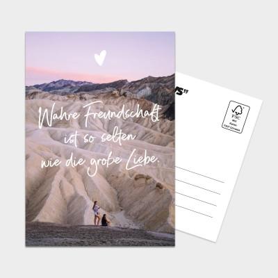 Wahre Freundschaft ist so selten wie die große Liebe - XXL Postkarte Visual Statements