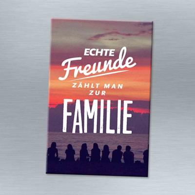 Echte Freunde zählen zur Familie - Magnet