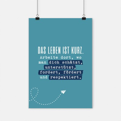 Das Leben ist zu kurz - Poster