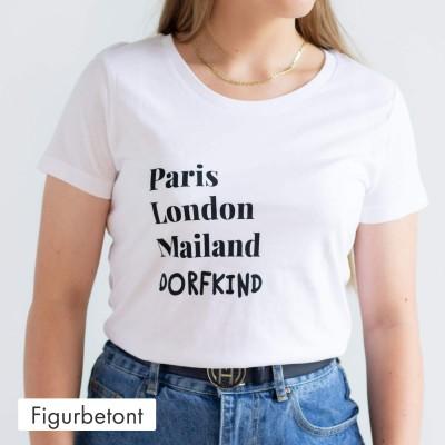 Figurbetontes T-Shirt - Dorfkind