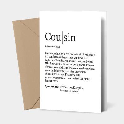 Cousin Grußkarte - Definition Cousin