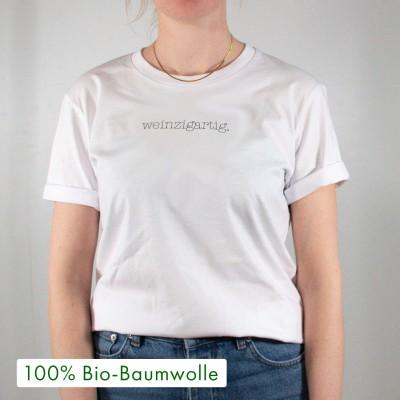 """Weinzigartig - Unisex T-Shirt weiß mit Spruch - Shirt von VS"""""""